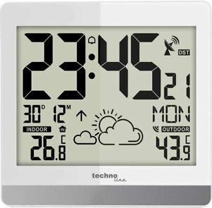 Digitale Funkwanduhr Außentemperatur Datum Wettervorhersage Technoline WS 8119