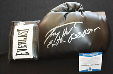 Larry Holmes signed & inscribed laced boxing glove, IBF, WBC, Beckett BAS N25649