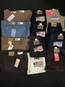 BULK LOT (12 pc) LEE 70s 80s Deadstock Vtg Mens Student Cord Jeans NOS NEW USA