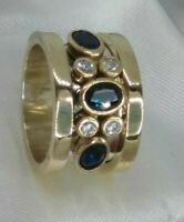 AAA QUALITY 925 SILVER HANDMADE JEWELRY CEYLON BLUE SAPPHIRE BAND RING
