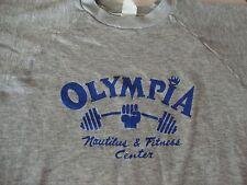 Vintage OLYMPIA Nautilus & Fitness Center Gym Bodybuilder shirt Sweatshirt M