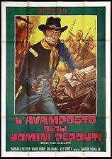 L'AVAMPOSTO DEGLI UOMINI PERDUTI MANIFESTO FILM ONLY THE VALIANT MOVIE POSTER 4F