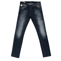 JACK & JONES Homme 'S Glenn Fox Slim Fit Taille Basse Gris Jeans Coupe W30