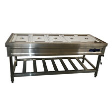 110V 5-Pan Bain-Marie Buffet Steam Table Stainless Steel Full Size Pan