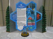 Heroscape Custom Blue Beetle Double Sided Card & Figure w/ Sleeve DC