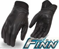 Mens Leather Motorcycle Gloves lined with Kevlar for cruiser riders