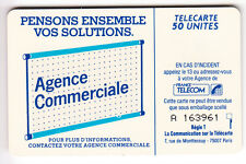 VARIETE TELECARTE LOGO .. 50U Te47 SO3 POINT BLEU SUR BARRE AGENCE V°   C.?€