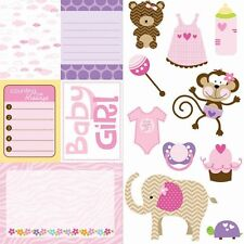 "Bella Blvd - 12""x 12"" BABY GIRL"" Cute Cuts "" Card-Stock Double Sided  #408"