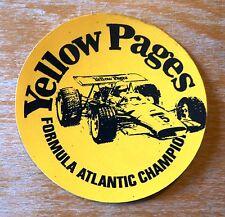 Años setenta páginas amarillas fórmula Atlántico Championship Racing Motorsport Sticker Decal