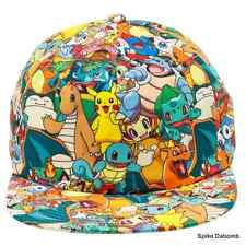AWESOME POKEMON GOTTA CATCH 'EM ALL - ALL OVER PRINT SNAPBACK CAP HAT *BRAND NEW