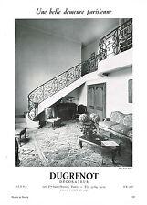 PUBLICITE ADVERTISING    1953  DUGRENOT  décorateur