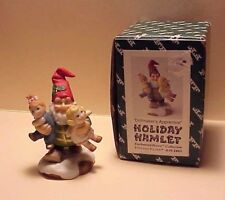"Vintage Holiday Hamlet ""Dollmaker's Apprentice"" Fitz and Floyd 1993 Signed Rare"