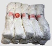 TRE ALI 12 kg.1,00 di cotone Filo di Scozia in matassa bianco Cucirini 3 Stelle