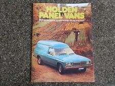 1976 HOLDEN HX PANEL VAN BROCHURE INCL SANDMAN  100% GUARANTEE