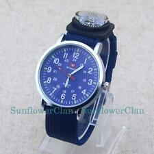 Fashion Sports Men Boy Numerals Dial Nylon Wristbands Quartz Men Wrist Watches