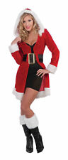 Enchanting Xmas Costume Short Jacket Coat Mrs Claus Adult Women Caroller Belt