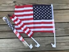 4th July Independence Day Car Truck Window Us Flag Patriot Flag 18x12in Lot of 3