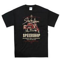 Hot Rod T Shirt Willy's Dragster State Line Speedshop Retro Vintage 50's Rocker