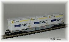 15522 Minitrix - Four-Axle Container-Flat Car Designed Sgnss SBB New Ovp