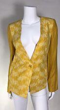 NWT BCBG Paris Woman Blazer Linen Polyester Combo SZ 8 No Lining Retail 198$