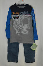 Boyz Wear By Nanette 2 PC Long Sleeves Boy's Pant Set-Size 4/7-Assortes Color