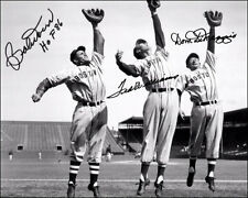 Ted Williams Doerr Dimaggio Autographed Repro Photo 8X10 Boston Red Sox HOF MLB