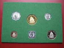 East Caribbean States 1981 6 coin set Proof Royal Mint in green insert