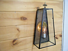 `Vintage Solid Antique Copper Lamp Light Fixture Sconce Art deco Patina Soldered