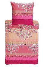 Bassetti Mako Raso Biancheria da letto Amarilla V1 Rosso Rosa Cotone 155x220 nella scatola originale