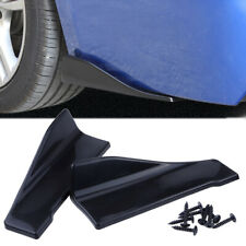 2pcs 35cm Skirt Spoiler Rear Lip Extension Rocker Splitters Winglet Wings Black