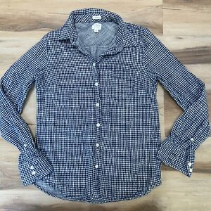 J Crew Boy Fit Double Faced Plaid Flannel Button Down Shirt Womens Small