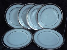 MARKS AND SPENCER HOME PLATINUM SIDE PLATES,CAKE,BREAD X 6
