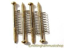 4 Oro Bass Guitar Pickup Tornillos Y Resortes para el montaje Jazz Precision Etc