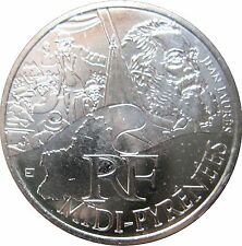 """Pièce de 10 euros des régions """"Midi Pyrénées"""" 2012."""