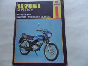 Haynes Owners Workshop Manual Suzuki GT50, ZR50, TS50