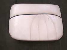 1998 Sea Ray Signature 230 Boat Right Stbd Rear Seat Cushion White & Blue Piping
