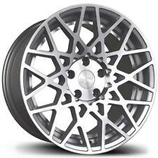 Avid1 AV36 18x9.5 +30 5x100 Silver FRS BRZ GT86 86 Corolla Celica Matrix XD TC