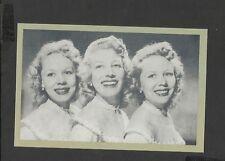 Nostalgia Postcard  Beverley Sisters Twins Babs and Teddy older sister Joy 1951