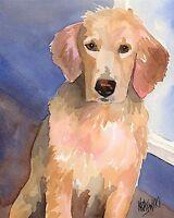 DOG ART PRINT Blond Goldens by Greg Alexander Golden Retriever Poster 11x14