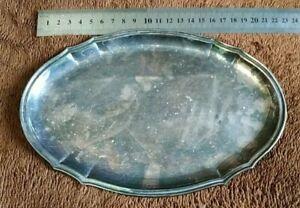 Tray JEZLER 800 vintage silver.