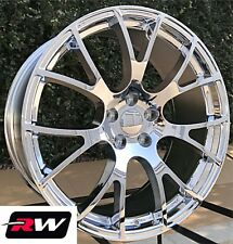 "Dodge Challenger Wheels SRT Hellcat 20"" inch 20x9"" / 20x10"" Chrome Rims 5x115"