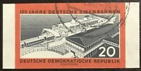 DDR #Mi805B CTO Imperf CV€3.50 1960 Ferry Sassnitz Railways [530]