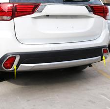 For 2016-2018 Mitsubishi Outlander Chrome Rear Fog Light Lamp Cover Trim 2PCS