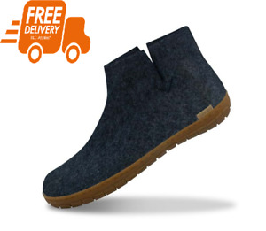 NEW Glerups The Boot with natural rubber sole – honey – Denim