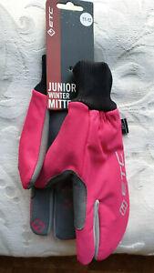 ETC Girls Junior Bicycle Cycle Bike Winter Mittens Pink