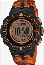 New Casio Mens Pro Trek TRIPLE SENSOR Digital Dress Solar Watch NWT PRG-300CM-4D