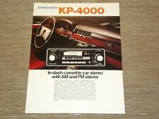 Pioneer KP-4000 Car Stereo  Cassette tape with FM radio  Original Catalogue