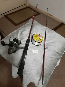 Spinning fishing Rod ZEBCO 6'14lb And reel SouthBend W/extra Fishing line