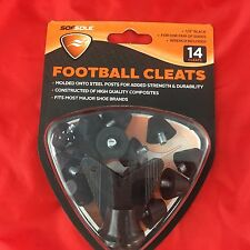 Sofsole 1/2 Inch Black Nylon Football Cleats 14 Ct with Wrench