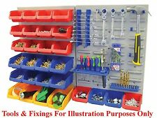 NEW 43pc Plastic Parts Storage Bins Boxes & Tool Tidy Kit Shed Garage Workshop